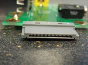 Photo detailing the iPod connector on a partially assembled Ultradock Lite (version 2)